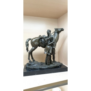 Прощание казака с казачкой у лошади