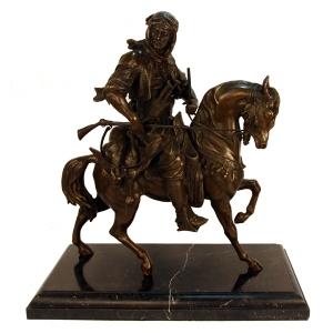 "статуэтка "" Арабский охотник ка коне"""