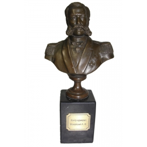 бюст контр-адмирала А.Можайского (на камне)