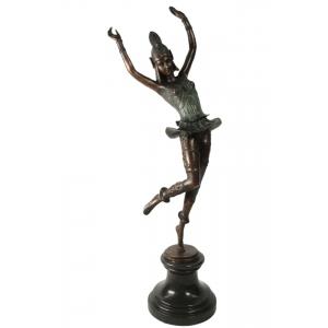 """Статуэтка из бронзы """"Танцовщица в зелёном платье"""""""