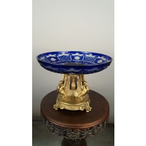 ваза Три лебедя, синяя (038В)