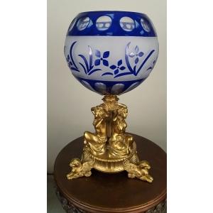 ваза для фруктов синяя Три девушки (034Д)