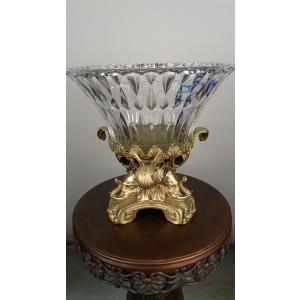 ваза Три слона (065) бронза, хрусталь