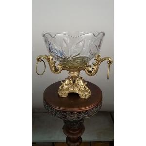 ваза Три слона (058) бронза, хрусталь