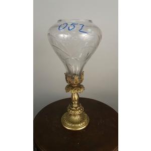 ваза (052) бронза, хрусталь