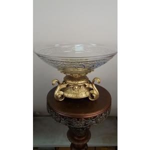 ваза (062С) бронза, хрусталь