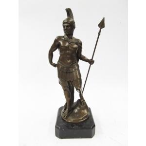 """статуэтка из бронзы """" Воин с копьём  """""""
