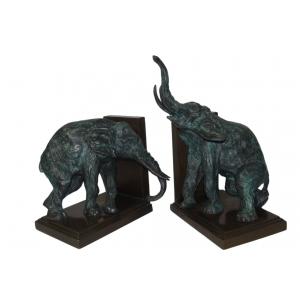 Слоны - держатели для книг (зелёные)