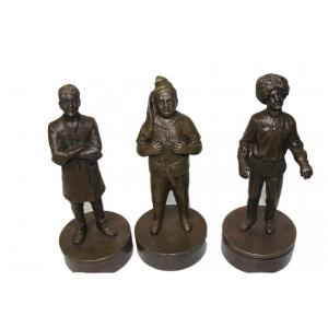 """статуэтки из бронзы """"Трус, Балбес и Бывалый"""" печати"""