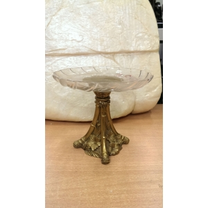 ваза (070) бронза, хрусталь