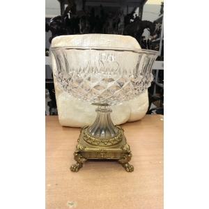 ваза (113) бронза, хрусталь