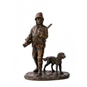 Бронзовые статуэтки охотников