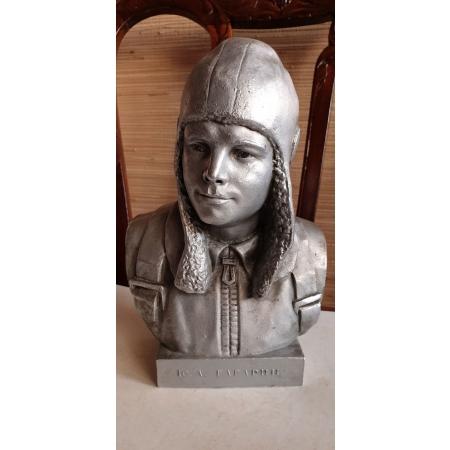 Ю. А. Гагарин в шлеме (силумин, СССР 1962 год) Монументскульптура