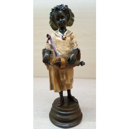 Девочка с шарманкой 2 (венская бронза)