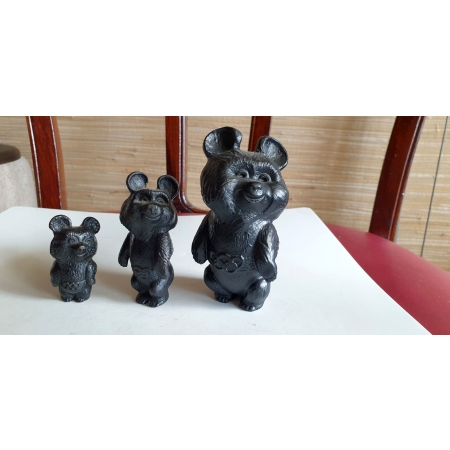 Мишки олимпийские (Касли, чугун, 1979 год)