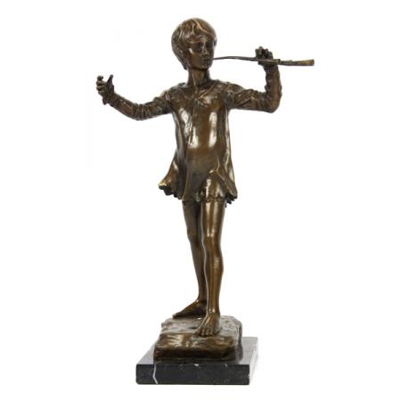 """статуэтка из бронзы """"Мальчик с дудочкой"""""""