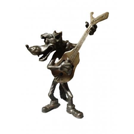 """статуэтка """" Волк с гитарой"""" - открывалка"""