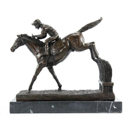 """статуэтка из бронзы """"Жокей """" (2)"""
