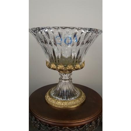 ваза хрусталь с бронзой (100)