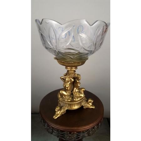 ваза три девушки (034 В) хрусталь с бронзой