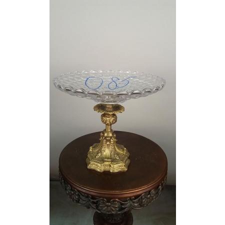 ваза для фруктов (085) хрусталь, бронза