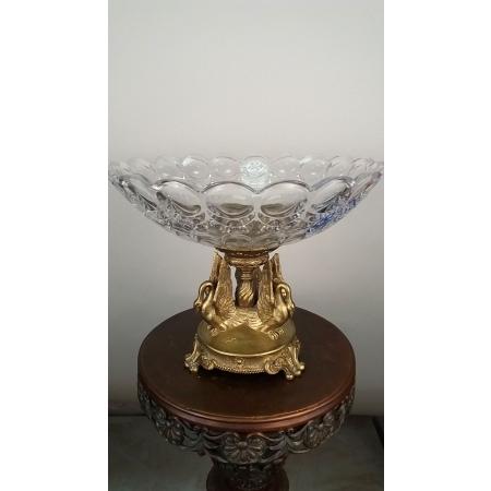 ваза Три лебедя (109) бронза, хрусталь