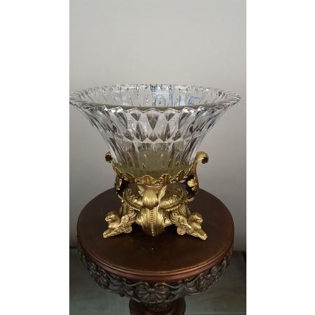 ваза Три сфинкса (045А) бронза, хрусталь