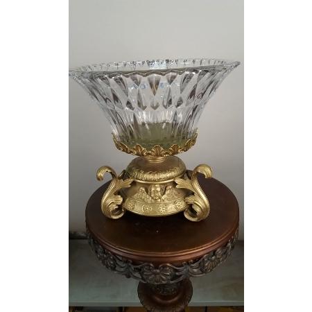 ваза (062А) бронза, хрусталь