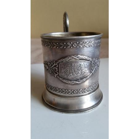 подстаканник с орнаментом (серебро, 84 проба)
