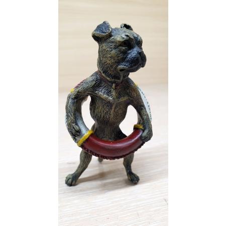 Собака спасатель (венская бронза)