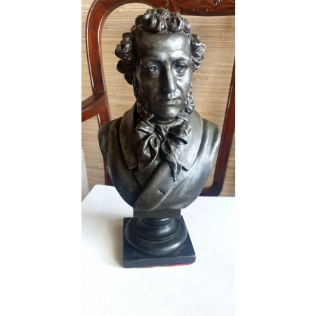А.С. Пушкин (бюст, шпиатр, Россия до 1917 года, скульптор - Бах)