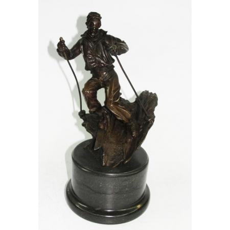 Статуэтка из бронзы Горнолыжник