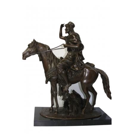 """статуэтка из бронзы """"Араб на коне"""""""