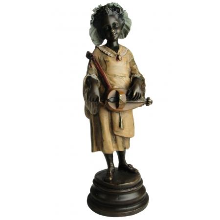 Девочка с шарманкой (венская бронза)