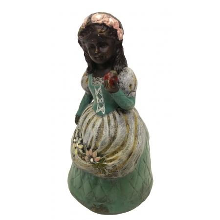колокольчик Август. Девочка с яблоком (венская бронза)
