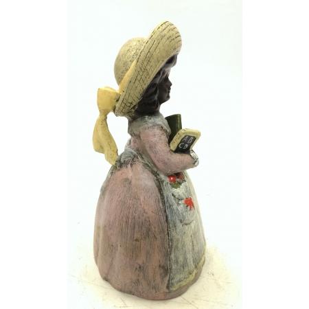 колокольчик Сентябрь. Девочка с букварем (венская бронза)