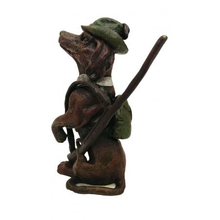 собака Охотник с ружьем (венская бронза)