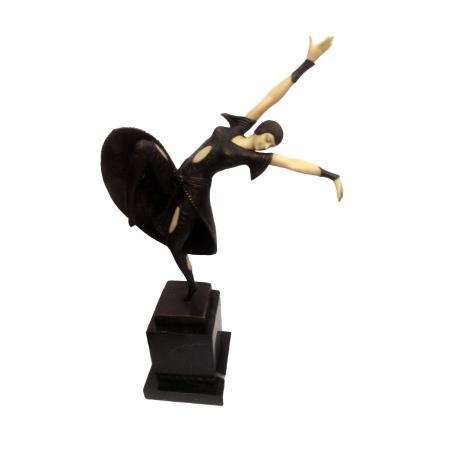 Танцовщица русского балета (бронза, кость)