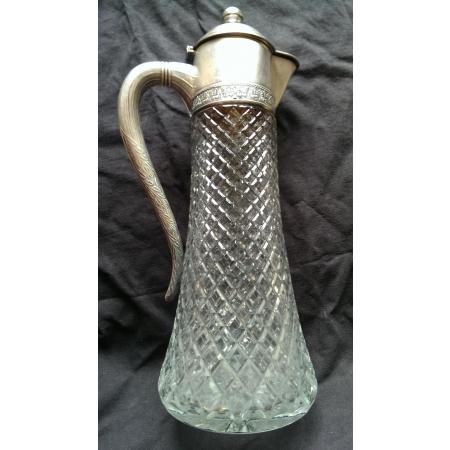 графин серебро с позолотой, хрусталь