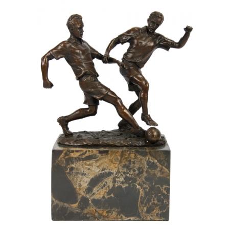 Статуэтка из бронзы футболисты