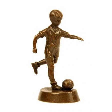 Статуэтка из бронзы Мальчик футболист
