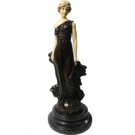 """статуэтка из бронзы """"Девушка с обнажённым плечом""""  Ар-Деко"""